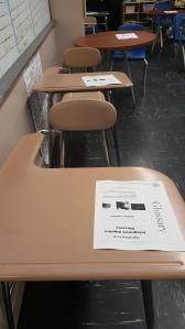 cleaned school desk