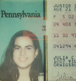 julie nariman's old driver license